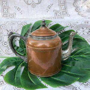 Antique G.I.Mix & Co. Copper & Pewter Teapot Tea
